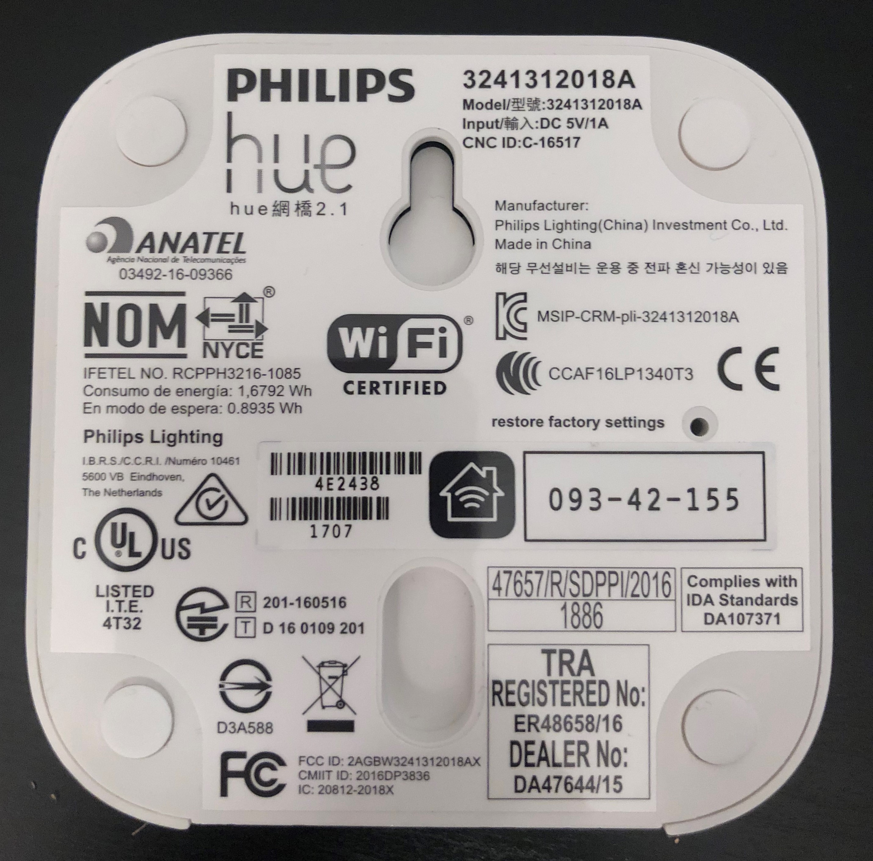 Philips Hue 2 1 – Enabling WIFI – IoT Blog
